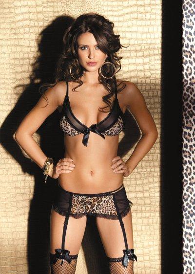 Sexy komplet s leopardím vzorem 96557