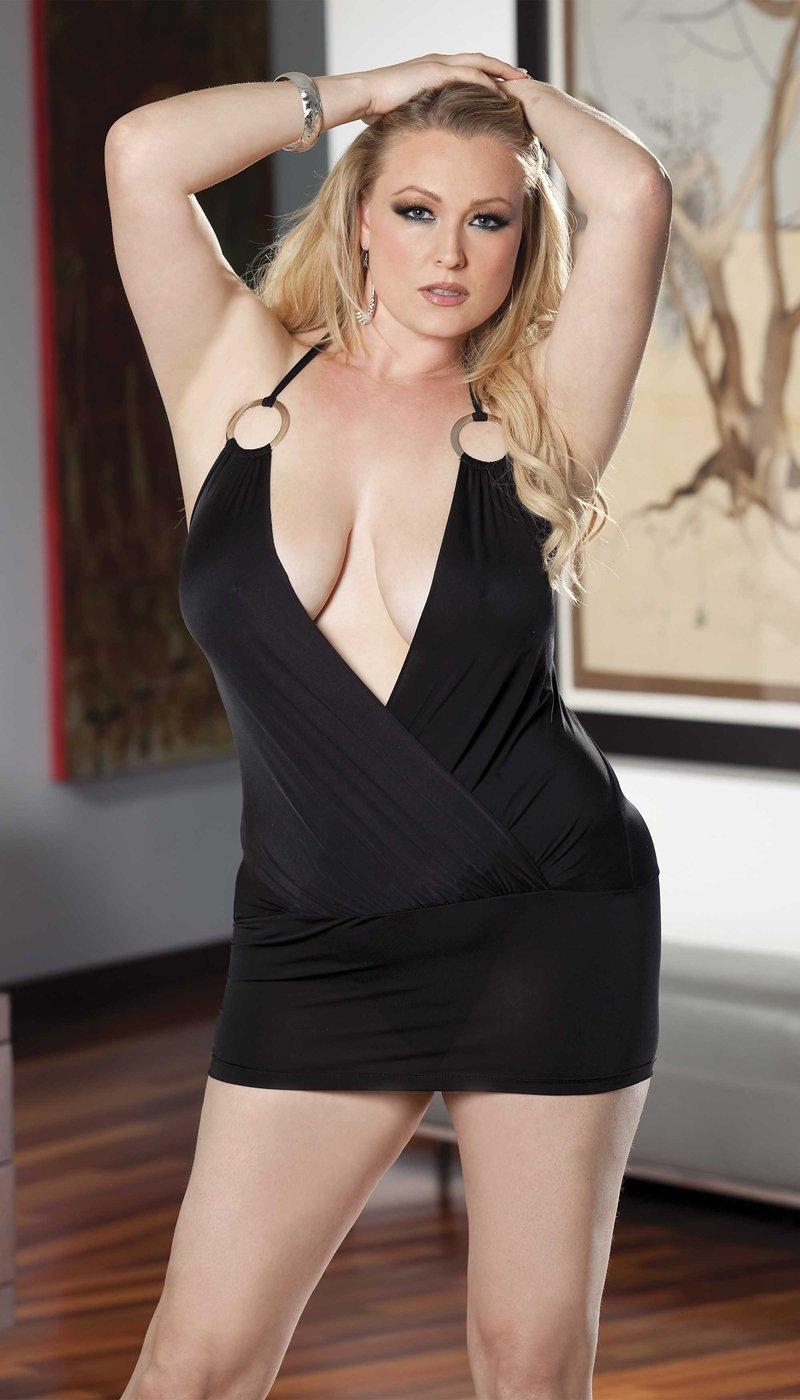 Sexy elastické šaty 96333Q Uni Queen černá Shirley H.O.T.