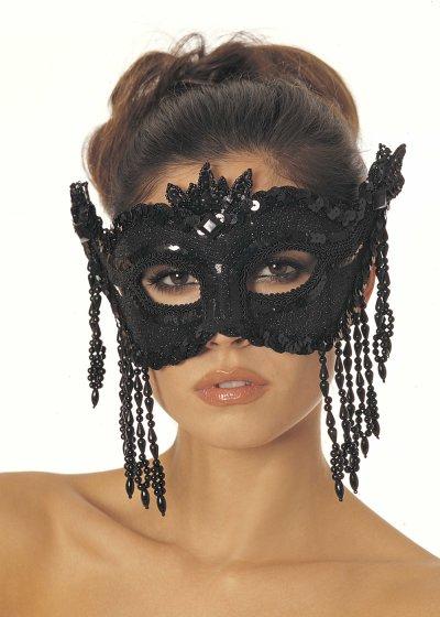 Černá škaboška na karneval 865