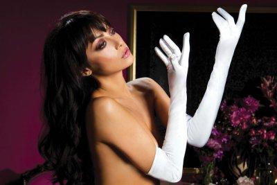 Dlouhé saténové rukavice 40109