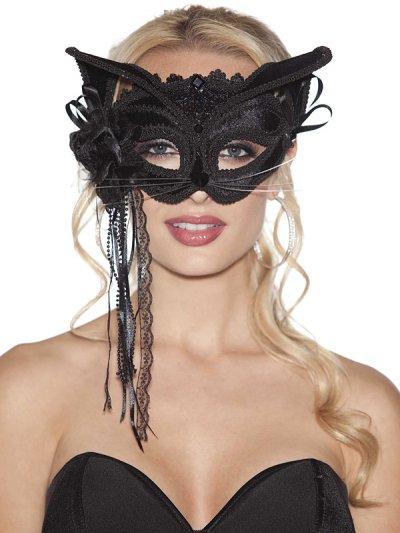 Škraboška černá kočka 904