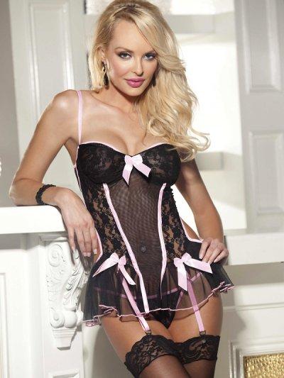 Luxusní prádlo s podvazky Concetta 25268