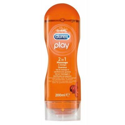 Durex play 2v1 masážní a lubrikační gel 200ml guarana