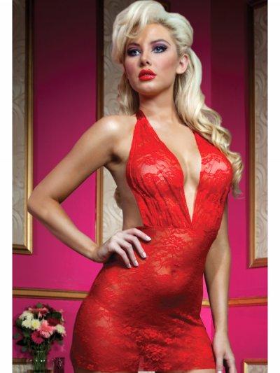 Červená erotická košilka 9533