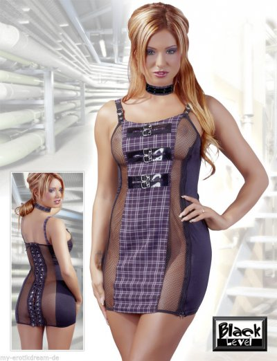 Erotické šaty s přezkami