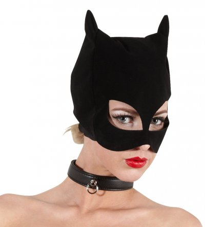 Maska Černá kočka