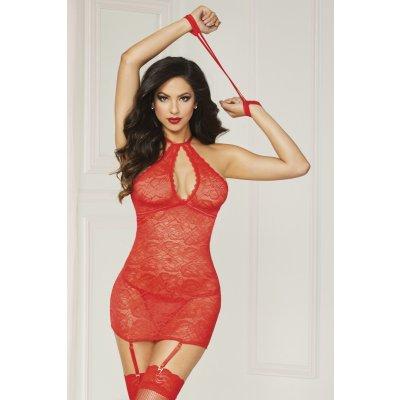 Červený erotický komplet s kalhotkama 10844X