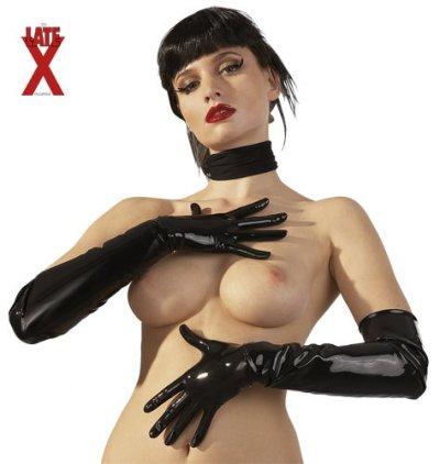 Latexové rukavice černé