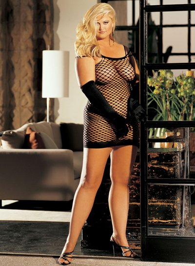 X90018 Fishnet Dress B