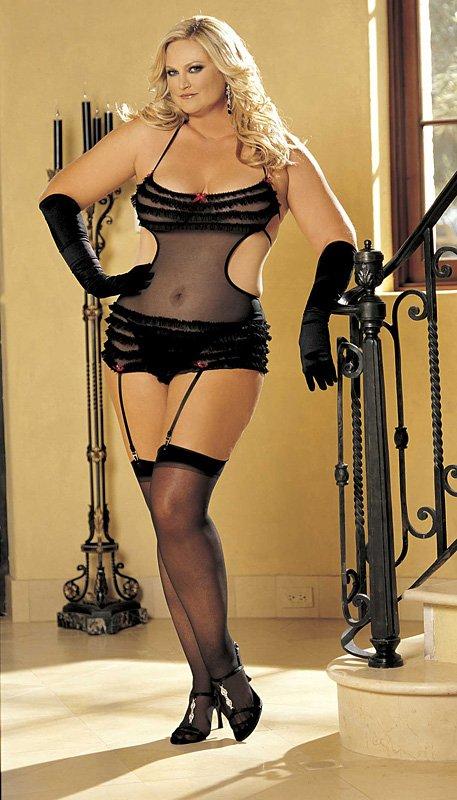 Sexy prádlo XXL 96147Q Uni Queen černá Shirley H.O.T.