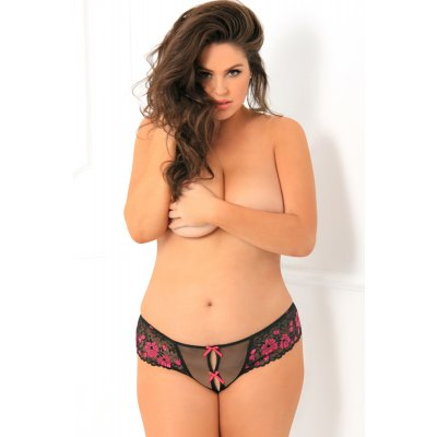 Crotchless Lace String - Plus Size