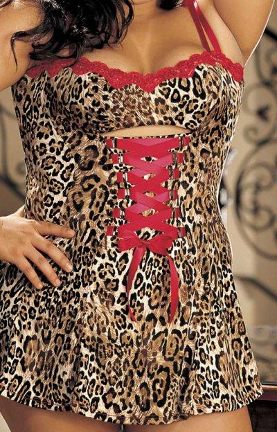Erotické šaty se šněrováním XXL X20295